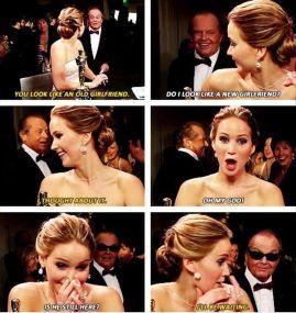 Jennifer Lawrence Meeting Jack Nicholson