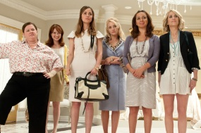 (L to R) MELISSA MCCARTHY, ELLIE KEMPER, ROSE BYRNE, WENDI MCLENDON-COVEY, MAYA RUDOLPH and KRISTEN WIIG in